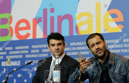 From right, director Abhishek Kapoor and producer Siddharth Roy Kapur during the press conference of the film Kai Po Che at the 63rd edition of the Berlinale, International Film Festival in Berlin