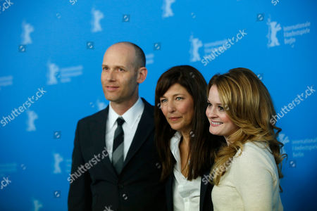 Fallon Goodson, Catherine Keener, Carter From left, director Carter, actresses Catherine Keener and Fallon Goodson pose with at the photo call for the film Maladies at the 63rd edition of the Berlinale, International Film Festival in Berlin