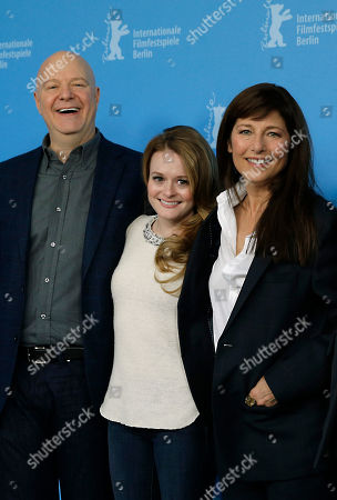Jeff Most, Fallon Goodson, Catherine Keener From left producer Jeff Most, actresses Fallon Goodson and Catherine Keener pose at the photo call for the film Maladies at the 63rd edition of the Berlinale, International Film Festival in Berlin