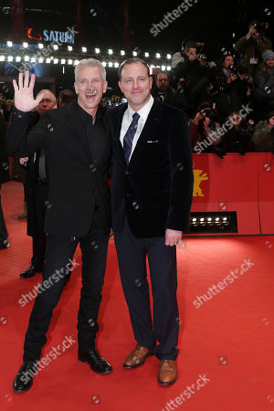 Directors Kirk De Micco and Chris Sanders arrive for the screening of the film The Croods at the 63rd edition of the Berlinale, International Film Festival in Berlin