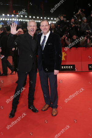 Kirk De Micco, Chris Sanders Directors Kirk De Micco and Chris Sanders arrive for the screening of the film The Croods at the 63rd edition of the Berlinale, International Film Festival in Berlin