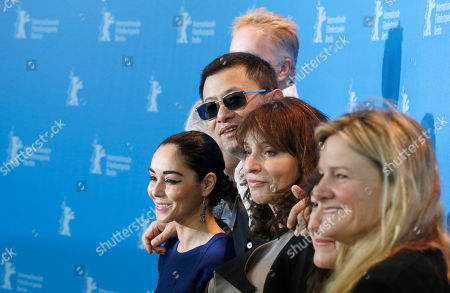 Shirin Neshat, Wong Kar Wai, Susanne Bier, Athina Rachel Tsangari, Ellen Kuras From left jury members Shirin Neshat, jury president Wong Kar Wai, Susanne Bier, Athina Rachel Tsangari and Ellen Kuras pose at the photo call during the jury press conference at the 63rd edition of the Berlinale, International Film Festival in Berlin, Germany
