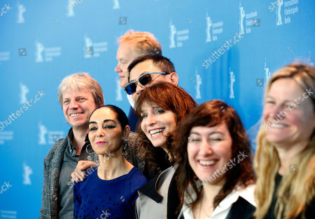 From left jury members Andreas Dresen, Shirin Neshat, Tim Robbins jury president Wong Kar Wai, Susanne Bier, Athina Rachel Tsangari and Ellen Kuras pose at the photo call during the jury press conference at the 63rd edition of the Berlinale, International Film Festival in Berlin, Germany