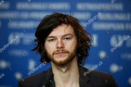 Actor Mateusz Kosciukiewicz poses at the news conference for the film In The Name Of at the 63rd edition of the Berlinale, International Film Festival in Berlin, Germany