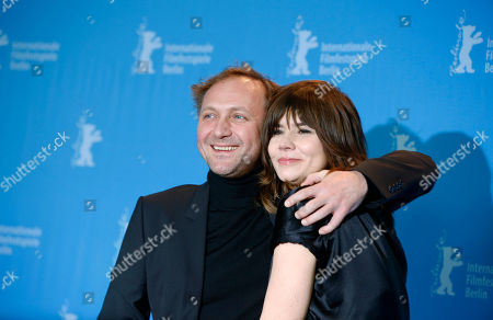 Actor Andrzej Chyra and director Malgoska Szumowska, right, pose at the photo call for the film In The Name Of at the 63rd edition of the Berlinale, International Film Festival in Berlin, Germany