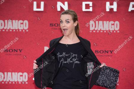 "Annika Kipp German moderator Annika Kipp arrives for the German premiere of the movie ""Django Unchained"" in Berlin, Germany"