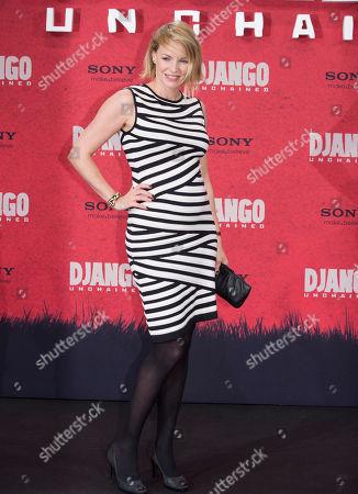 "Simone Hanselmann Simone Hanselmann arrives for the German premiere of the movie ""Django Unchained"" in Berlin, Germany"