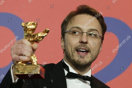 Calin Peter Netzer Director Calin Peter Netzer holds the Golden Bear for his film Child's Pose as he attends a press conference after the closing ceremony at the 63rd edition of the Berlinale, International Film Festival in Berlin