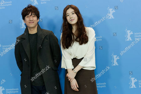 Lee Sun-kyun, Jung Eun-chae Korean actor Lee Sun-kyun, left, and actress Jung Eun-chae pose during the photo call of the movie 'Nobody's Daughter Haewon' (Nugu-Ui Ttal-Do Anin Haewon) at the 63rd edition of the Berlinale, International Film Festival in Berlin