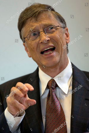 Bill Gates Bill Gates, founder of the software company Microsoft, speaks during a press conference after a meeting with German Development Aid Minster Dirk Niebel, unseen, in Berlin, Germany