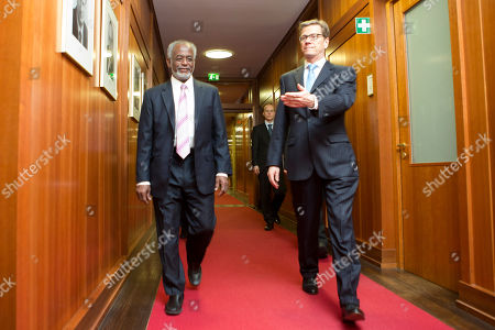 Guido Westerwelle, Ali Karti German Foreign Minister Guido Westerwelle, right, walks with his counterpart from Sudan Ali Karti for bilateral talks prior to a German-Sudan economic conference in Berlin, Germany