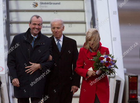 Joe Biden, Jill Biden, Philip D. Murphy U.S. Vice President Joe Biden, center, accompanied by his wife Jill Biden, right, and U.S. ambassador to Germany Philip D. Murphy, left, walks to his motorcade upon arrival at the Tegel airport in Berlin, Germany, . Biden is expected to meet with Chancellor Angela Merkel in Berlin and to attend the annual Munich Security Conference in Munich that starts later Friday. In his meeting with Merkel - his first official visit to Berlin since first taking office in 2009 - Biden is to address international issues, bilateral ties, efforts to seal a free trade deal between Europe and the U.S. and a possible visit by US President Barack Obama to Berlin
