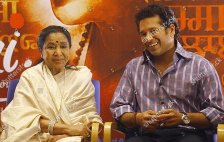 Sachin Tendulkar, Asha Bhosle Indian cricketer Sachin Tendulkar right, shares a light moment with Indian Bollywood playback singer Asha Bhosle during the Music launch of Bhosle's film ëMaií in Mumbai, India, . 79-year-old Bhosle is making her acting debut in this film