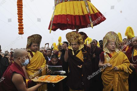 Karmapa Ogyen Trinley Dorje The head of Tibetan Buddhism's Karma Kagyu sect, the 17th Karmapa Ogyen Trinley Dorje, center, performs rituals during the inauguration of new tents for Monks at the Tergar Monastery in Bodh Gaya, India, . Bodh Gaya is the town where Buddha is believed to have attained nirvana, or enlightenment 2,500 years ago