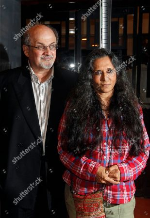 "Salman Rushdie, Deepa Mehta Author Salman Rushdie and Director Deepa Mehta attend a promotional event of ""Midnight's Children"" in Mumbai, India, Tuesday, Jan. 29, 2013. Rushdie is in India on a promotional tour for Mehta's Midnight's Children, based on his Booker Prize-winning novel of the same name"