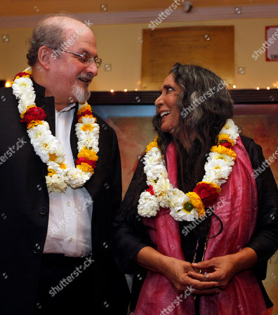 Salman Rushdie, Deepa Mehta Author Salman Rushdie, left, and director Deepa Mehta talk as they pose for the media before a screening of 'Midnight Children' at a movie hall in New Delhi, India, Tuesday, Jan.22, 2013. Rushdie is in India on a promotional tour for Deepa Mehta's Midnight's Children, based on his Booker Prize-winning novel of the same name