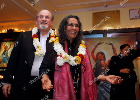 Salman Rushdie, Deepa Mehta Author Salman Rushdie, left, and director Deepa Mehta pose for the media before a screening of 'Midnight Children' at a movie hall in New Delhi, India, . Rushdie is in India on a promotional tour for Deepa Mehta's Midnight's Children, based on his Booker Prize-winning novel of the same name