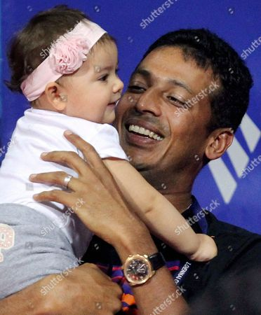 Mahesh Bhupathi Indian tennis player Mahesh Bhupathi holds his daughter during the ATP Chennai Open tennis tournament in Chennai, India