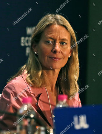 Stock Image of Jasmine Whitbread Chief Executive of the United Kingdom's Save the Children International Jasmine Whitbread attends the World Economic Forum in Gurgaon, on the outskirts of New Delhi, India