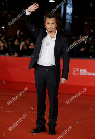 """Director Paolo Franchi poses as he arrives for the screening of the movie """"E la chiamano estate"""" (and they call it summer), at the 7th edition of the Rome International Film Festival in Rome"""