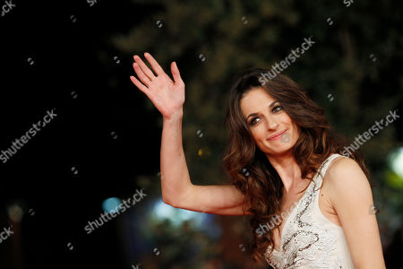 """Actress Anita Kravos poses as she arrives for the screening of the movie """"E la chiamano estate"""" (and they call it summer), at the 7th edition of the Rome International Film Festival in Rome"""