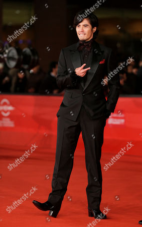 """Hideaki Ito Actor Hideaki Ito arrives for the premiere of the movie """"Lesson of the evil"""" at the 7th edition of the Rome International Film Festival in Rome"""