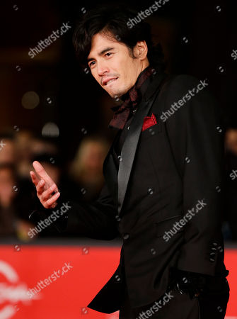 """Hideaki Ito Hideaki Ito arrives for the premiere of the movie """"Lesson of the evil"""" at the 7th edition of the Rome International Film Festival in Rome"""