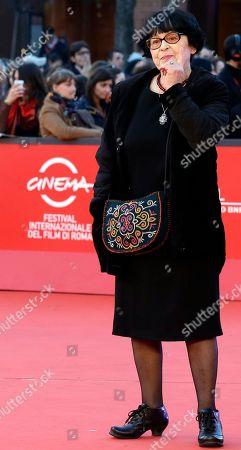 """Kira Muratova Director Kira Muratova poses for photographers as she arrives for the screening of her movie """"Vechnoe Vozvraschenie"""" (Eternal Return) during the 7th edition of the Rome International Film Festival in Rome"""