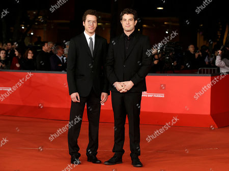 """Alan Polsky, Gabe Polsky Directors and producers Alan Polsky, left, and Gabe Polsky pose for photographers as they arrive for the screening of their movie """"The Motel Life"""" during the 7th edition of the Rome International Film Festival in Rome"""