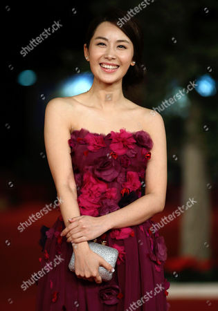 "Stock Image of Li Cheng Yuan Actress Li Cheng Yuan poses as she arrives for the screening of the movie ""Duzhan"", at the 7th edition of the Rome International Film Festival in Rome"