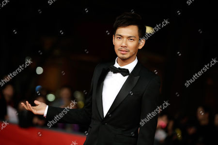 """Wallace Chung Actor Wallace Chung poses as he arrives for the screening of the movie """"Duzhan"""", at the 7th edition of the Rome International Film Festival in Rome"""