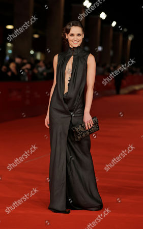 Actress Anastasia Mikulchina arrives for the opening ceremony of the 7th edition of the Rome International Film Festival in Rome
