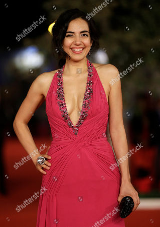 """Stock Photo of Actress Tina Rodriguez poses for photographers as she arrives for the screening of her movie """"Marfa Girl"""" at the 7th edition of the Rome International Film Festival in Rome"""