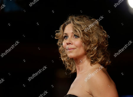 """Actress Anne Louise Hassing poses for photographers as she arrives for the screening of her movie """"Goltzius and the Pelican Company"""" at the 7th edition of the Rome International Film Festival in Rome"""