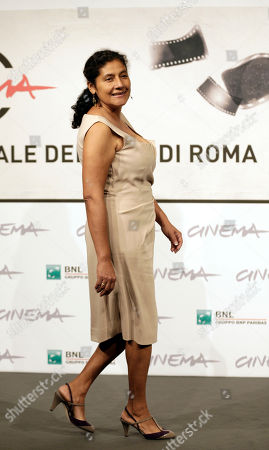 """Margarita Saldana Actress Margarita Saldana poses for photographers to present her movie """"Mai Morire"""" at the 7th edition of the Rome International Film Festival in Rome, . A"""