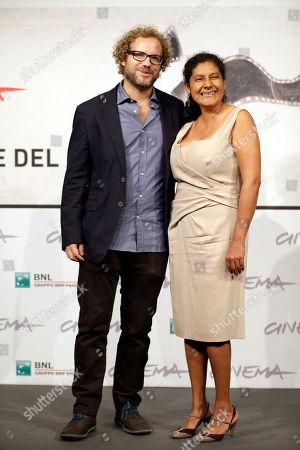 "Margarita Saldana, Enrique Rivero Director Enrique Rivero, and actress Margarita Saldana pose for photographers to present their movie ""Mai Morire"" at the 7th edition of the Rome International Film Festival in Rome"