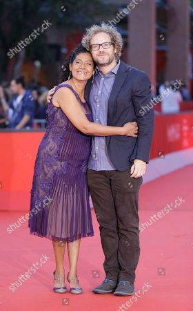 """Stock Picture of Margarita Saldana, Enrique Rivero Actress Margarita Saldana, left, and director Enrique Rivero pose for photographers as they arrive to present their movie """"Mai Morire"""" at the 7th edition of the Rome International Film Festival in Rome"""