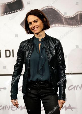 """Alina Marazzi Director Alina Marazzi poses to present the movie """"Tutto parla di te"""" at the 7th edition of the Rome International Film Festival in Rome"""