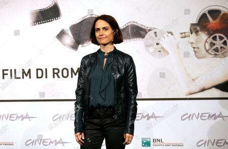"""Stock Image of Alina Marazzi Director Alina Marazzi poses to present the movie """"Tutto parla di te"""" at the 7th edition of the Rome International Film Festival in Rome"""