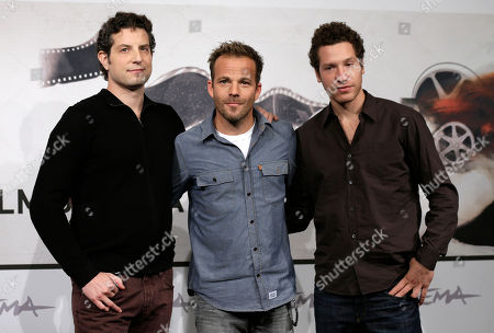 """Alan Polsky, Stephen Dorff, Gabe Polsky Frm left, Producer and director Alan Polsky, actor Stephen Dorff and director Gabe Polsky pose to present the movie """"The Motel Life"""" at the 7th edition of the Rome International Film Festival in Rome"""