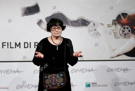 """Director Kira Muratova poses for photographers as she arrives to present the movie """"Vechnoe vozraschenie"""" at the 7th edition of the Rome International Film Festival in Rome"""