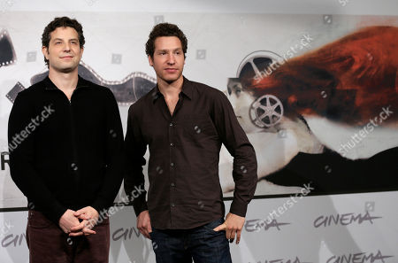 """Alan Polsky, Gabe Polsky Producer and director Alan Polsky, left, director Gabe Polsky pose to present the movie """"The Motel Life"""" at the 7th edition of the Rome International Film Festival in Rome"""