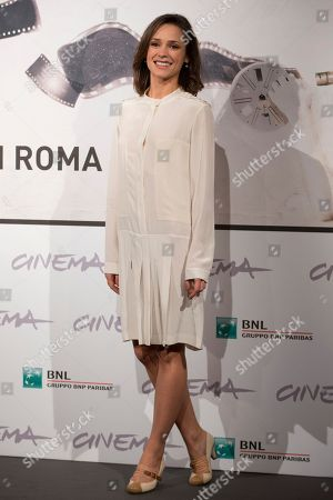 "Actress Anastasia Mikulchina poses during the photo call of the movie ""Waiting for the Sea"" at the Rome Film Festival, in Rome"
