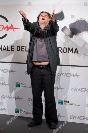 """Stock Picture of Bakhtiar Khudojnazarov Director Bakhtiar Khudojnazarov poses during the photo call of the movie """"Waiting for the Sea"""", presented at the Rome Film Festival, in Rome"""