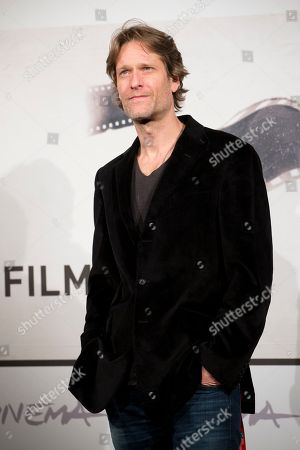 """Actor Michael Laurence poses during the photo call of the movie """"A Walk in the Park"""" at the Rome Film Festival, in Rome"""