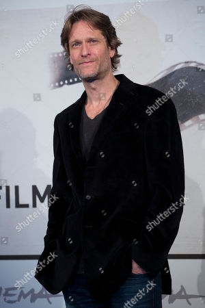 """Michael Laurence Actor Michael Laurence poses during the photo call of the movie """"A Walk in the Park"""", presented at the Rome Film Festival, in Rome"""