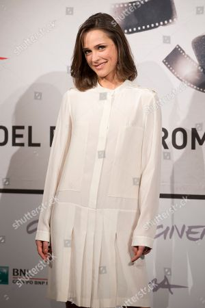 "Stock Image of Actress Anastasia Mikulchina poses during the photo call of the movie ""Waiting for the Sea"" at the Rome Film Festival, in Rome"