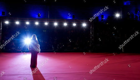 Showgirl Patrizia Pellegrino arrives to attend the opening ceremony of the Rome Film Festival, in Rome