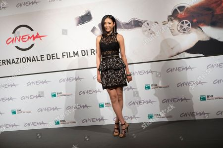 "Actress Erina Mizuno poses during the photo call of the movie ""Lesson of Evil"" at the Rome Film Festival, in Rome"