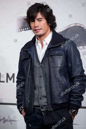 """Hideaki Ito Actor Hideaki Ito poses during the photo call of the movie """"Lesson of Evil"""", presented at the Rome Film Festival, in Rome"""